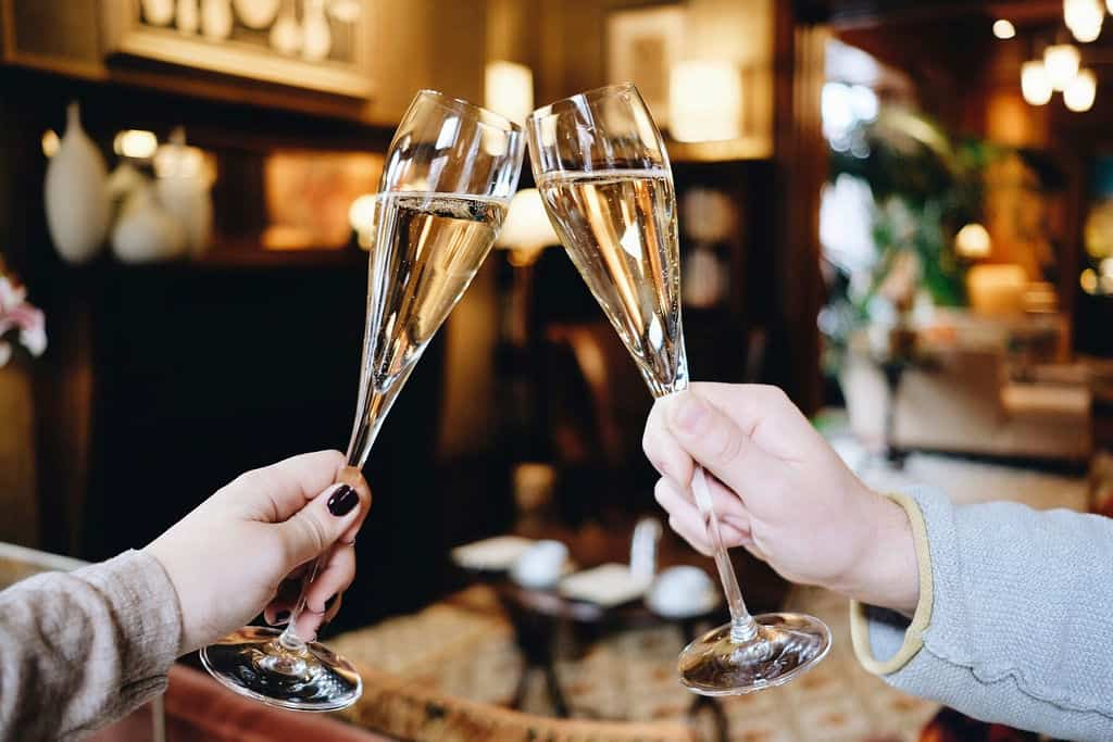 A champagne toast at The Ivy Hotel.