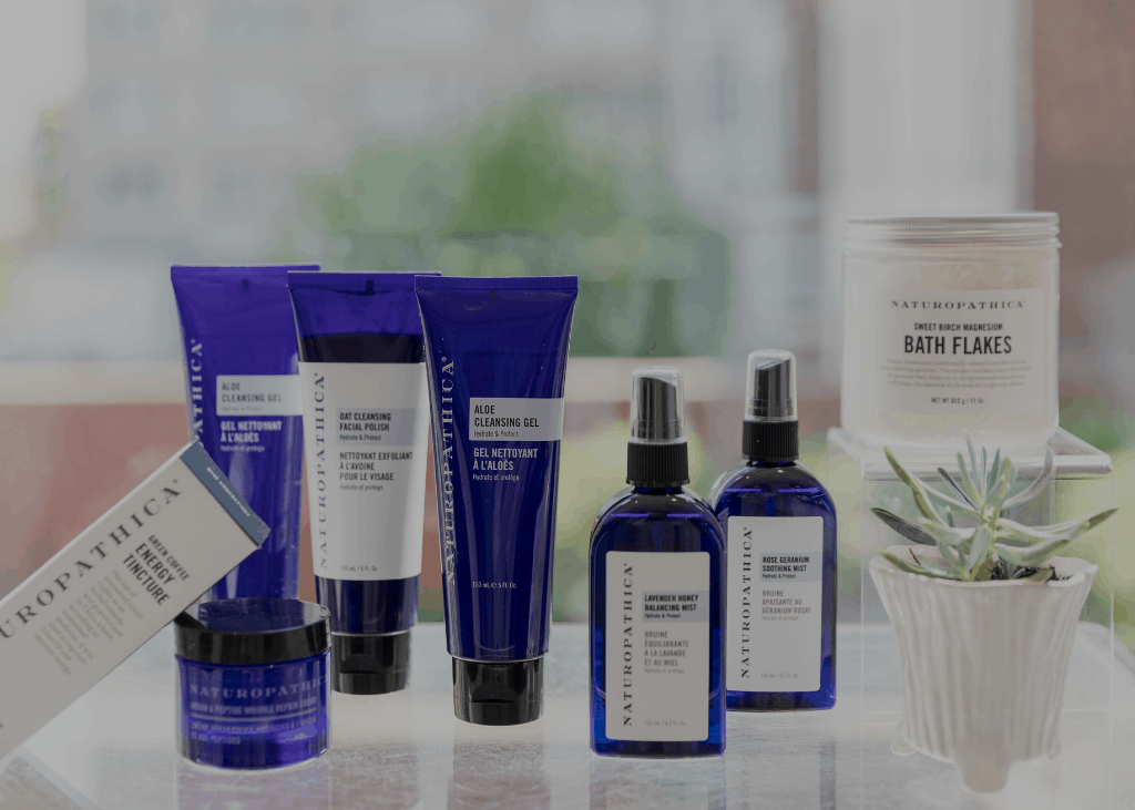 Line of Naturopathica products at The Spa at The Ivy.