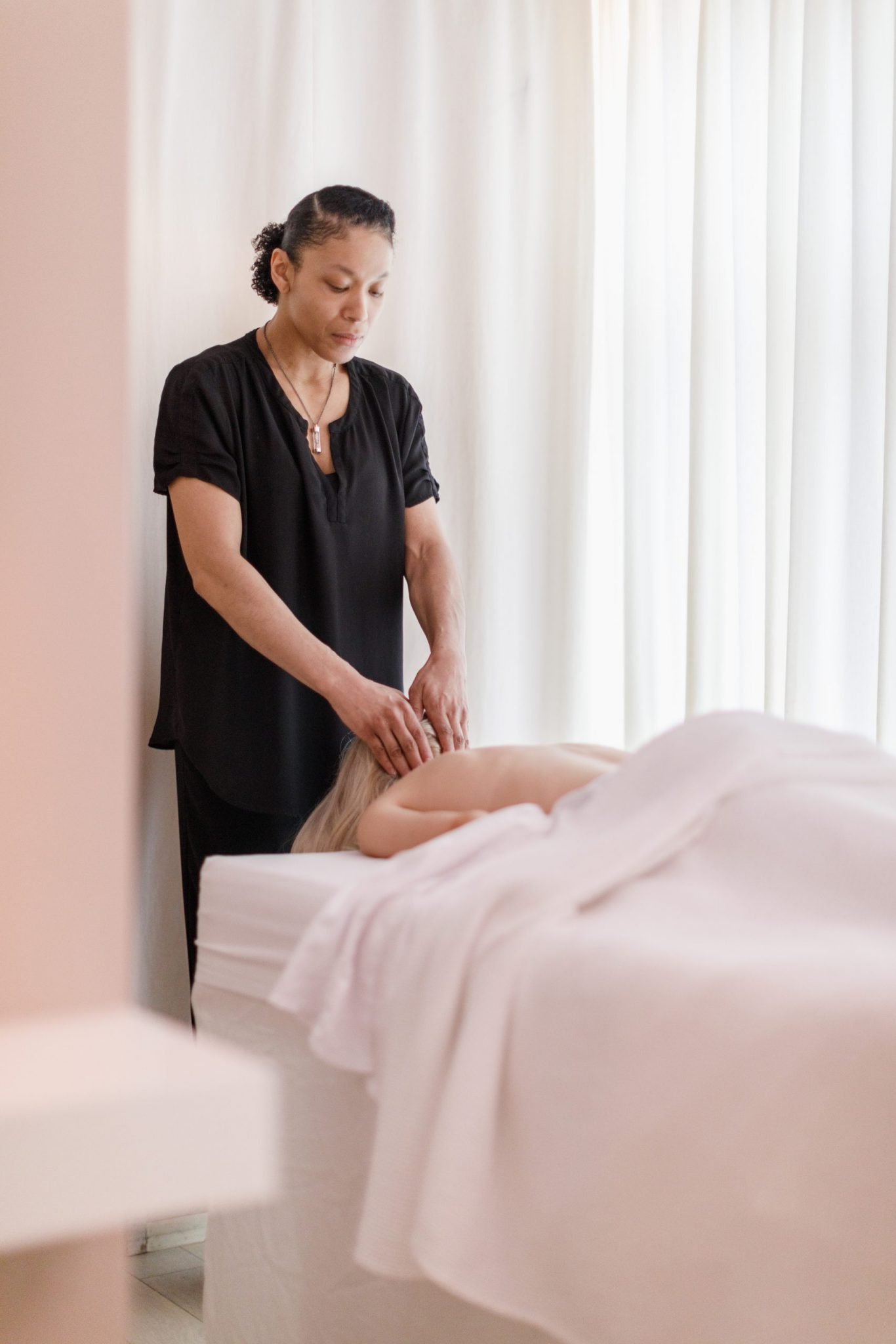 A person getting a massage