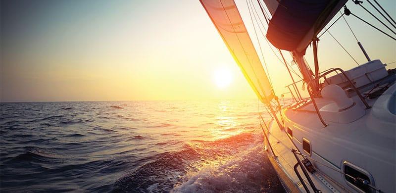 Sunset sail in Baltimore.